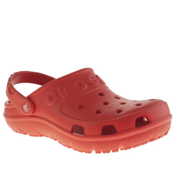 Unisex Crocs Red Hilo Clog Unisex Junior