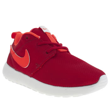 Unisex Nike Red Roshe Run Unisex Junior