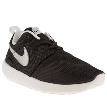 Unisex Nike Black Roshe Run Unisex Junior