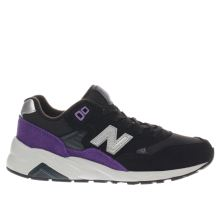 New Balance Black & Purple 580 Unisex Junior