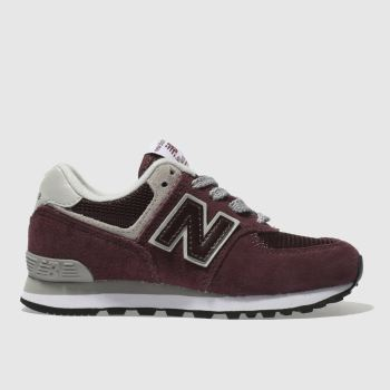 New Balance Burgundy 574 Unisex Junior