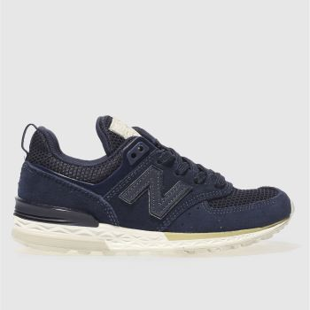New Balance Navy 574 Sport Unisex Junior