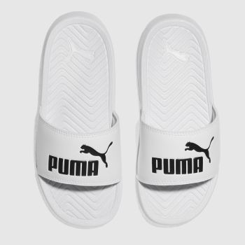 Puma White Popcat Unisex Junior
