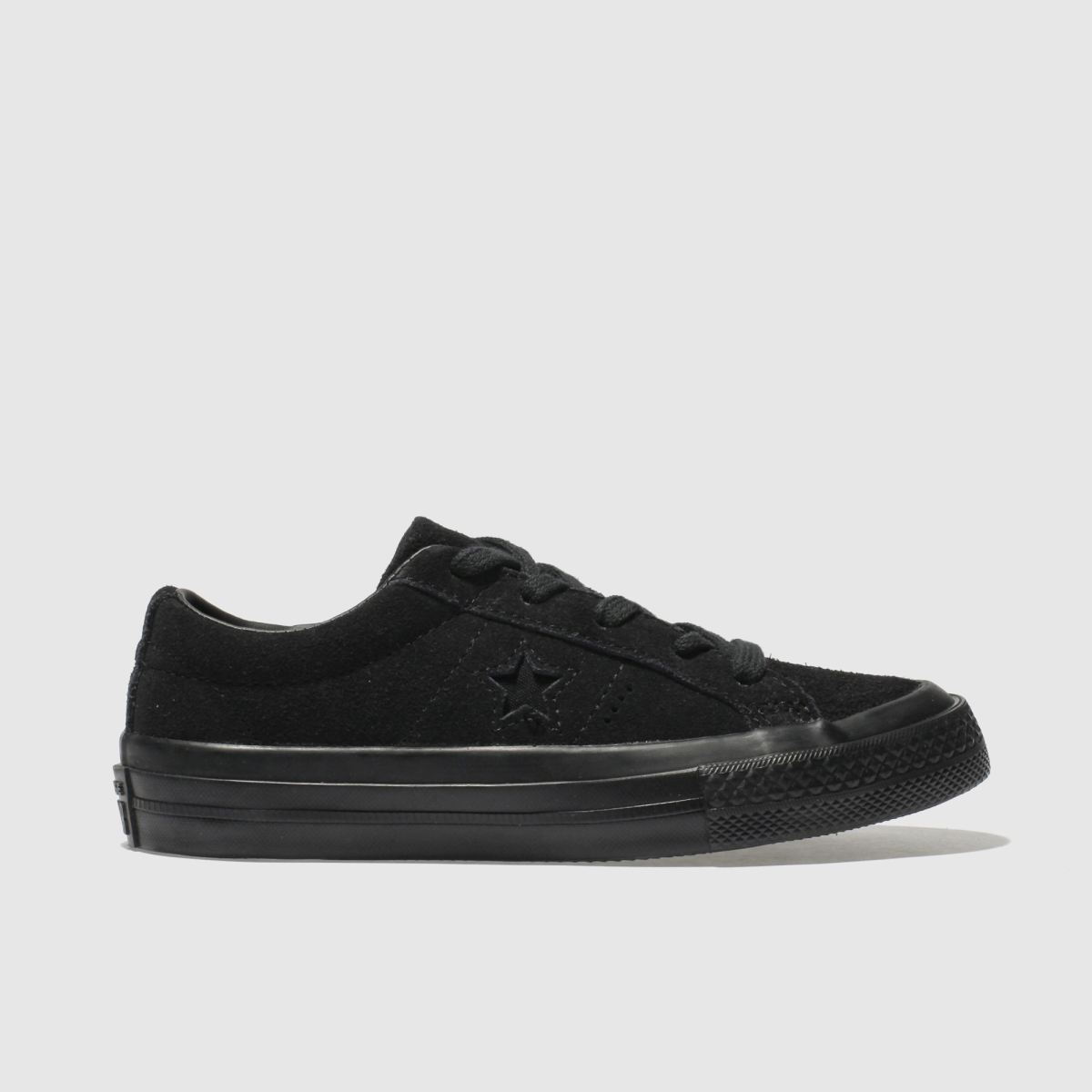 Converse Black One Star Trainers Junior