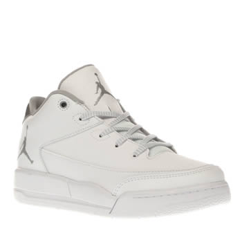 Nike Jordan White & Silver Flight Origin 3 Unisex Junior