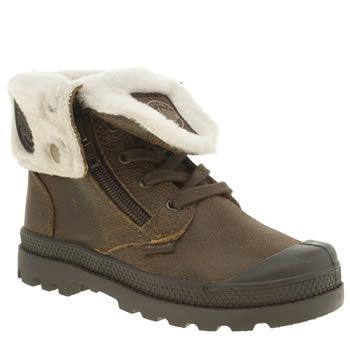 Palladium Dark Brown Baggy Leather Unisex Junior