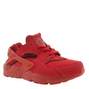 Nike Red Huarache Run Unisex Junior
