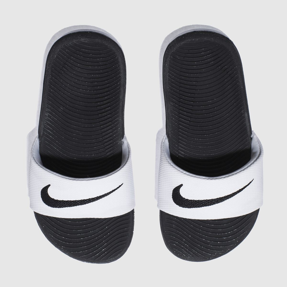 nike white & black kawa slide Junior Sandals