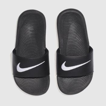 Nike Black & White Kawa Slide Unisex Junior