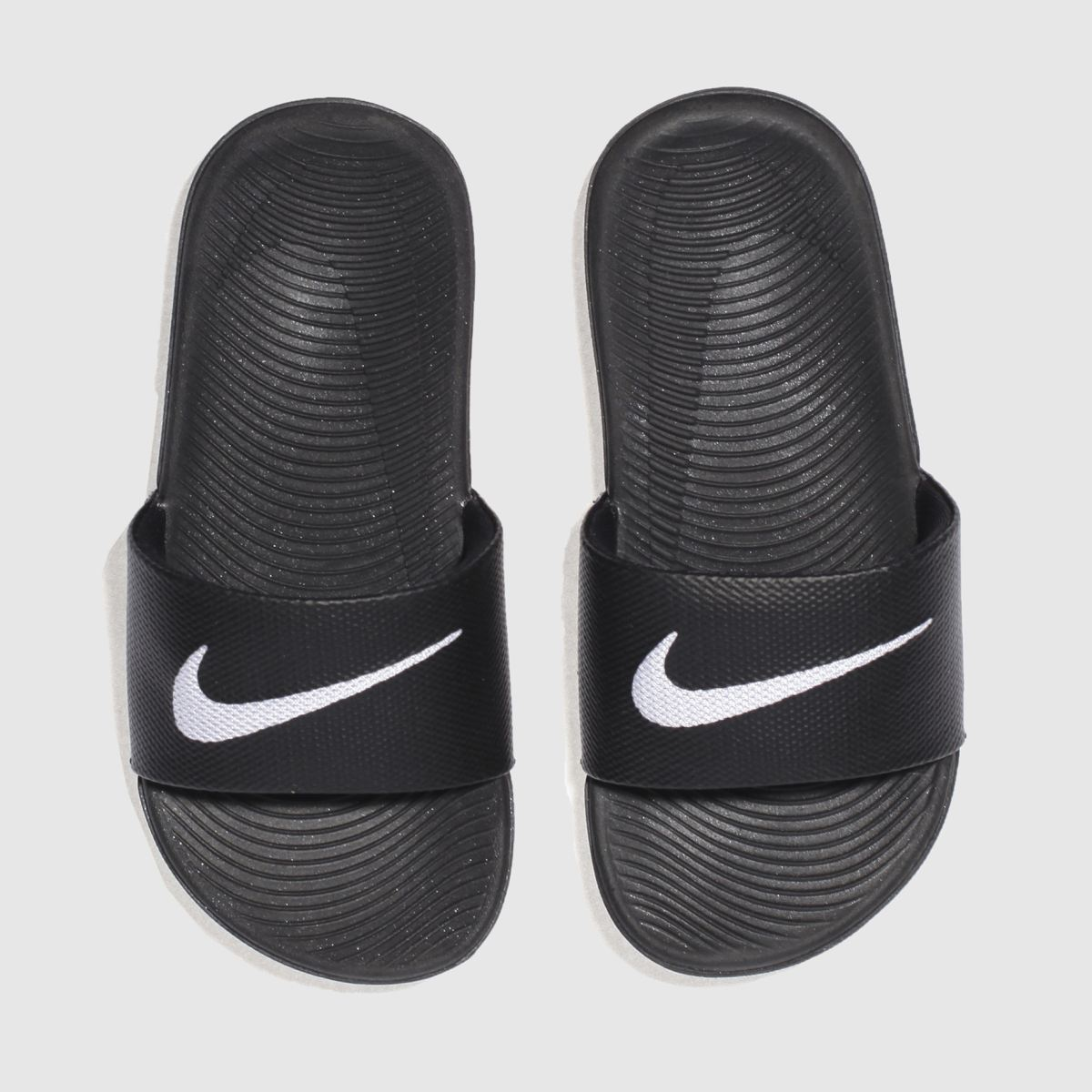 nike black & white kawa slide Junior Sandals