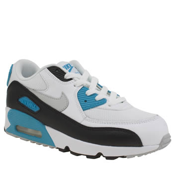 Nike White & Teal  Air Max 90 Mesh Unisex Junior
