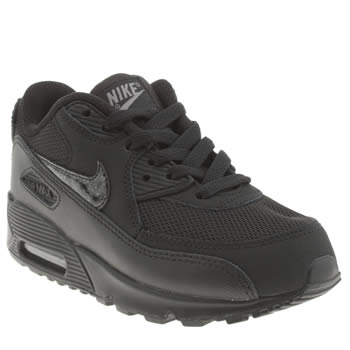 Nike Black Air Max 90 Mesh Unisex Junior