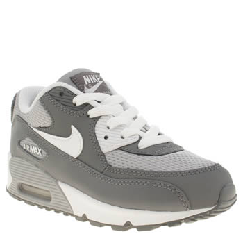 Nike Grey Air Max 90 Mesh Unisex Junior