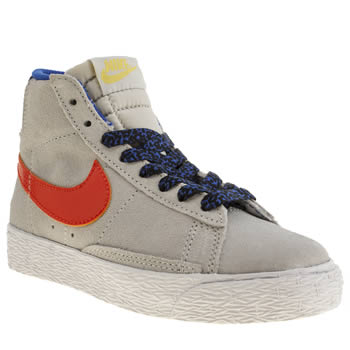 Nike Light Grey Blazer Mid Vintage Unisex Junior