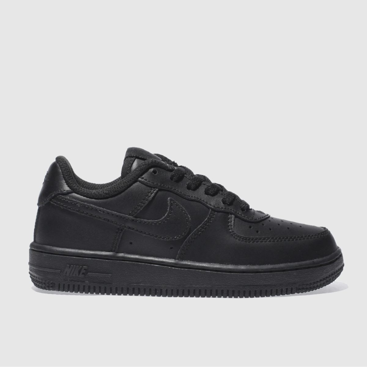 nike black air force 1 Boys Junior Trainers
