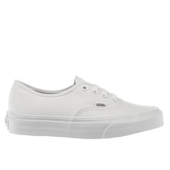 Vans White Authentic Unisex Junior