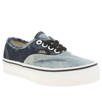 Vans Navy & White Authentic Unisex Junior