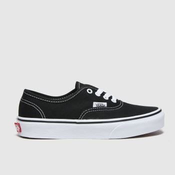 Vans Black & White Authentic Unisex Junior