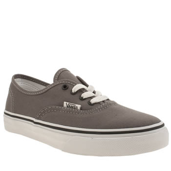 Unisex Vans Grey & Black Authentic Unisex Junior