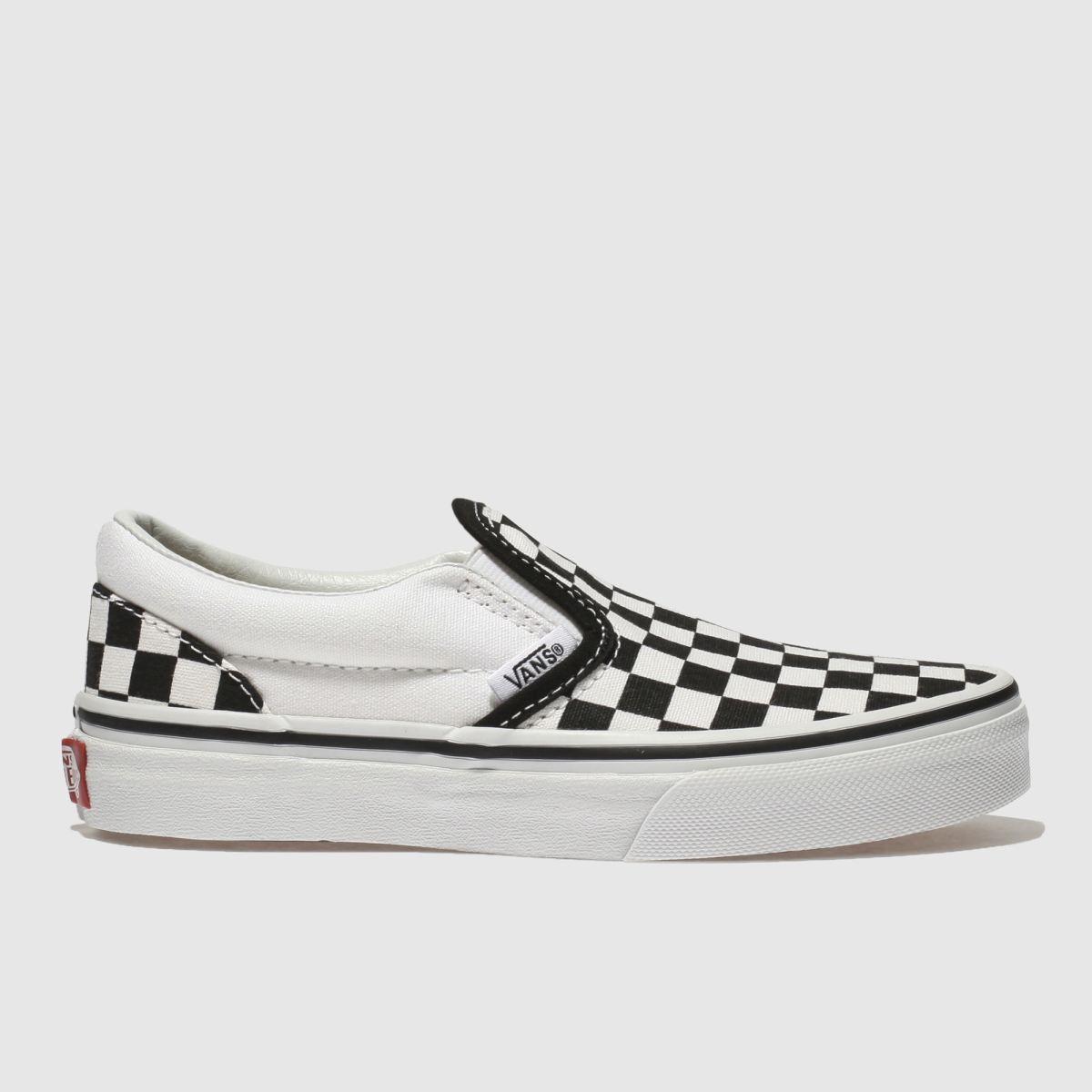 Vans White & Black Classic Slip-on Unisex Junior Junior