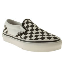 Junior Black & White Vans Classic Slip