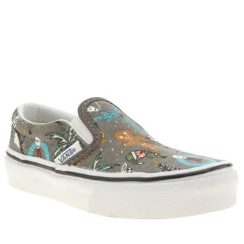 Vans Grey Classic Slip-on Unisex Junior