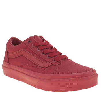 Unisex Vans Red Mono Old Skool Unisex Junior