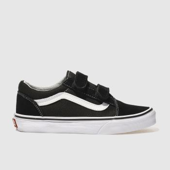 Vans Black & White OLD SKOOL Unisex Junior