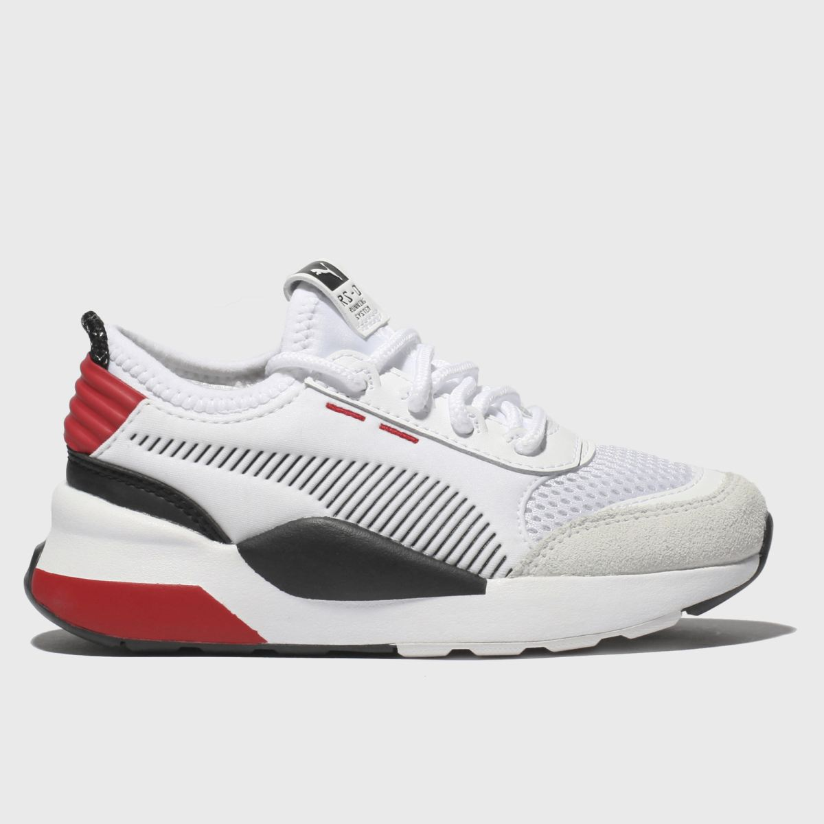 Puma White & Red Rs-0 Wtr Inj Toys Trainers Junior