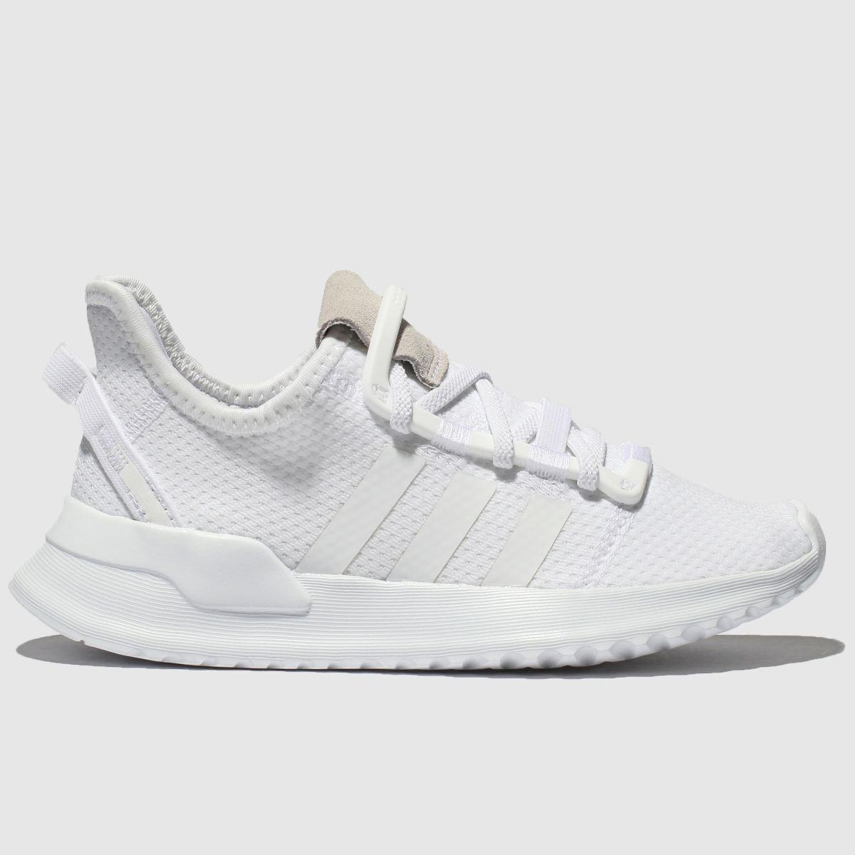 Adidas White Adi U_path Run Trainers Junior