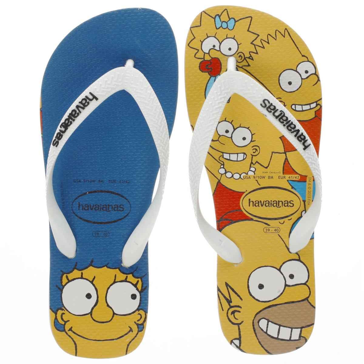 havaianas yellow simpsons Junior Sandals