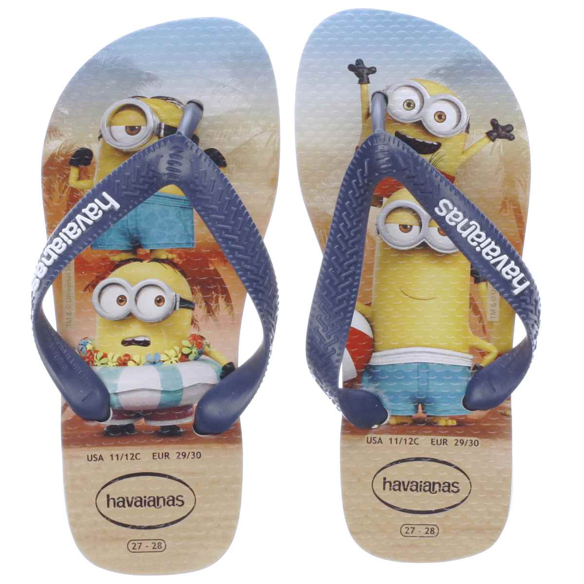 havaianas blue & yellow minions Youth Sandals