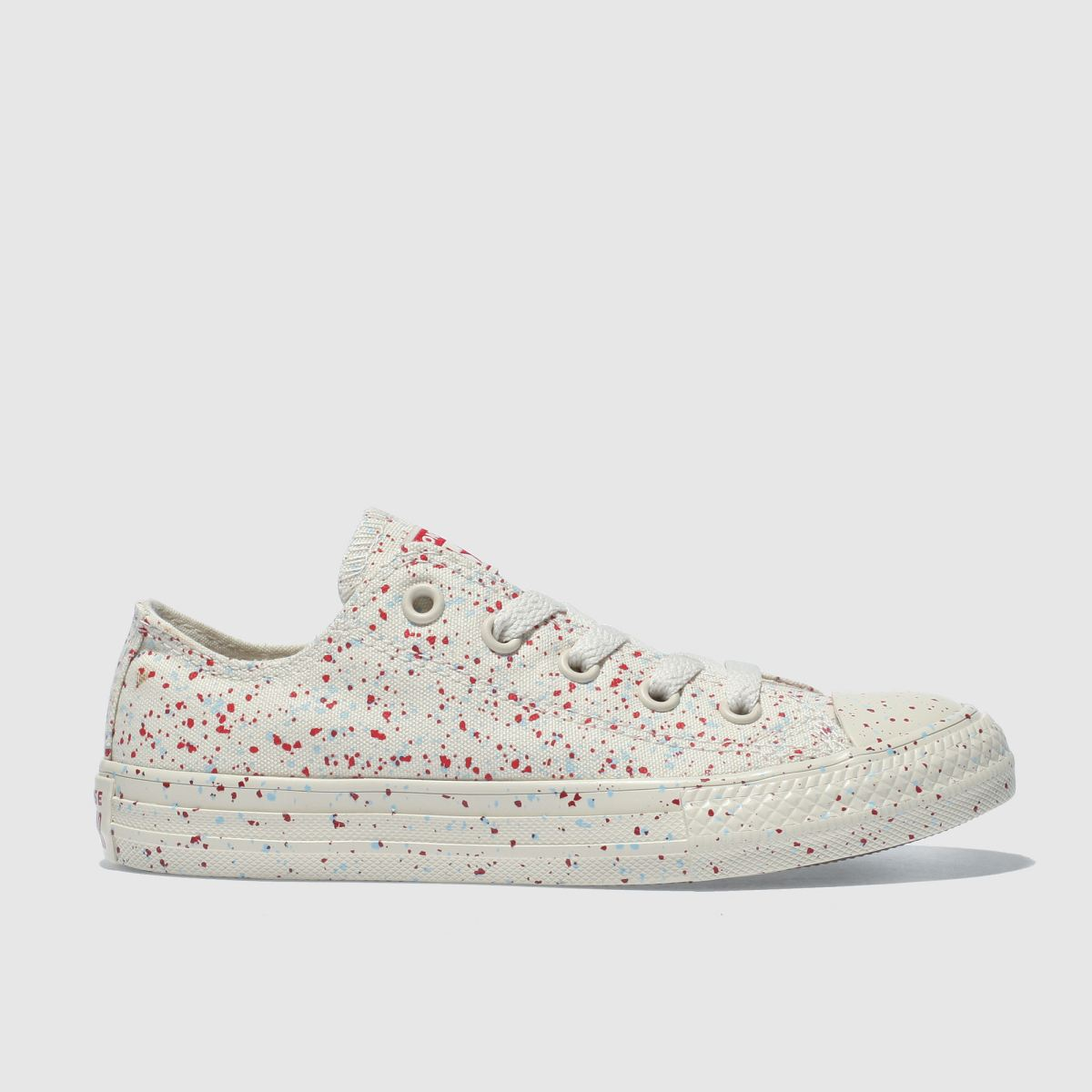 Converse Cream & Red All Star Lo Trainers Junior
