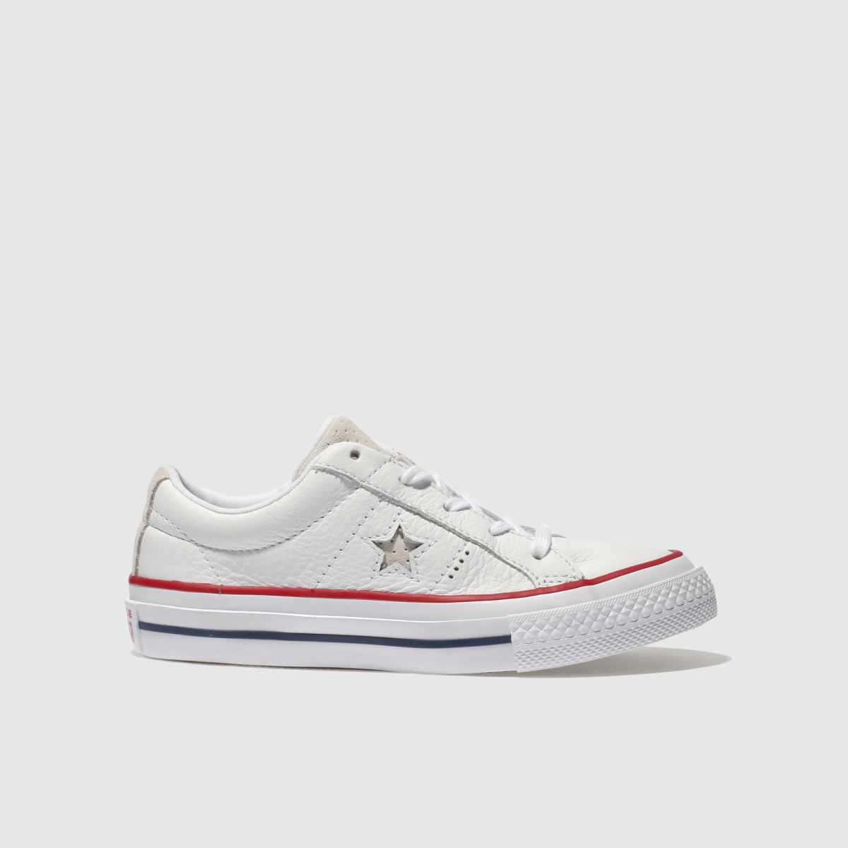 Converse White & Red One Star Ox Junior Trainers