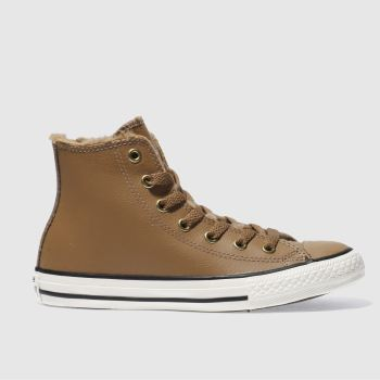 Converse Tan All Star Hi Shearling Unisex Junior