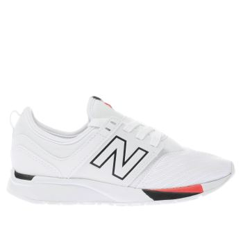 New Balance White 247 Unisex Junior