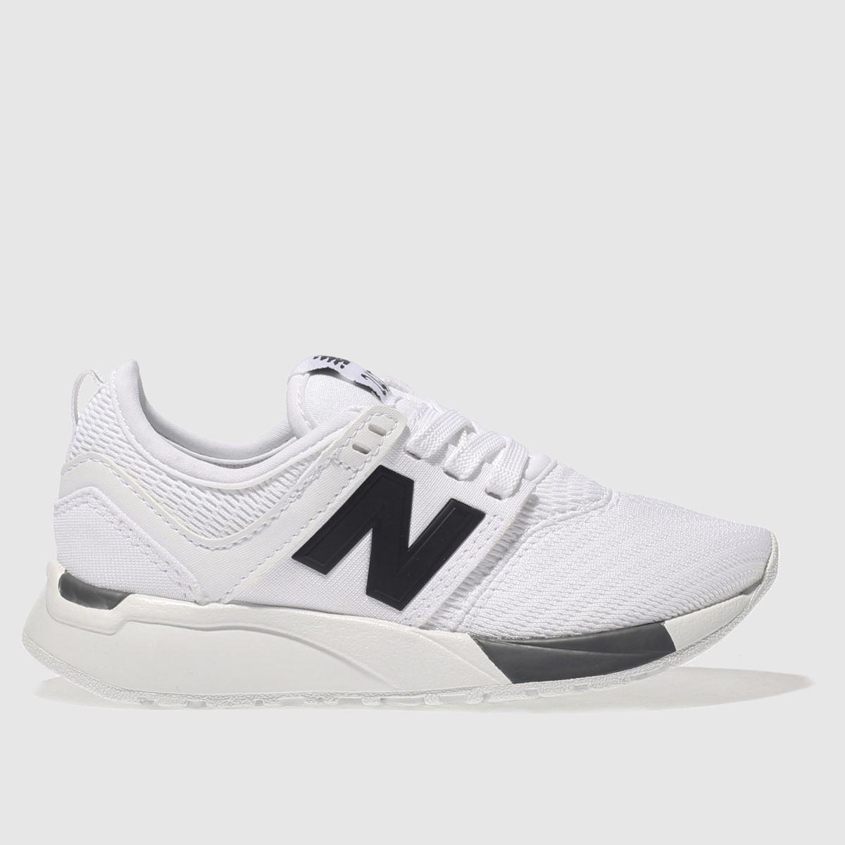 New Balance New Balance White & Black 247 Junior Trainers