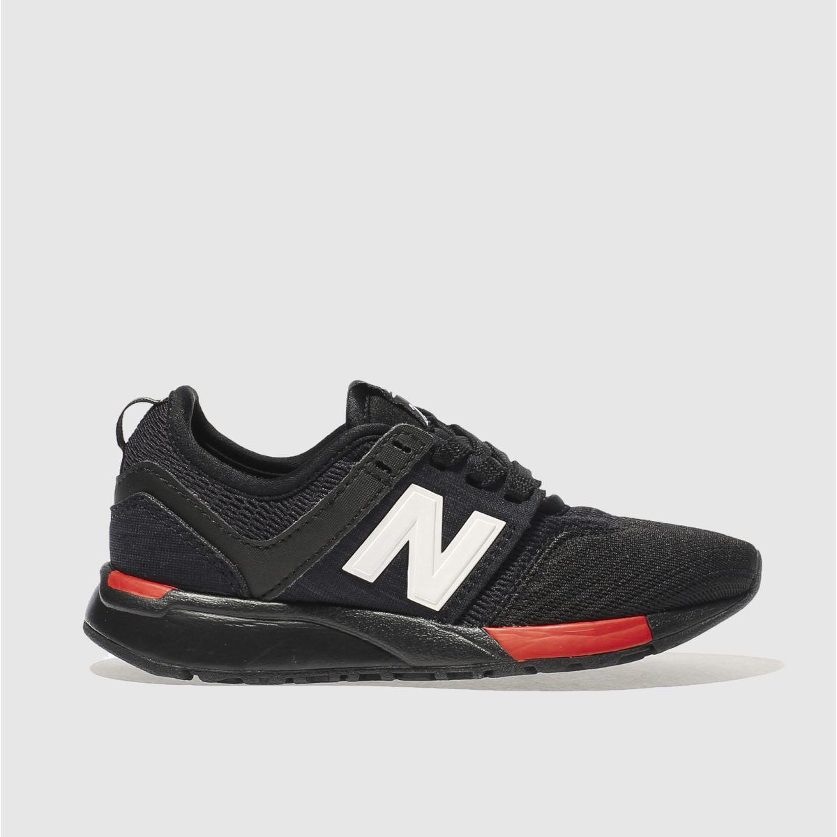New Balance New Balance Black & Red 247 Junior Trainers