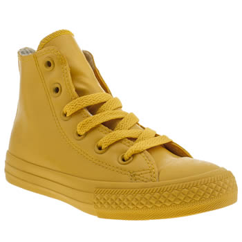 Unisex Converse Yellow All Star Rubber Hi Unisex Junior