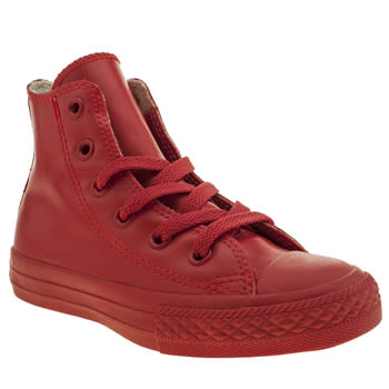 Unisex Converse Red All Star Rubber Hi Unisex Junior