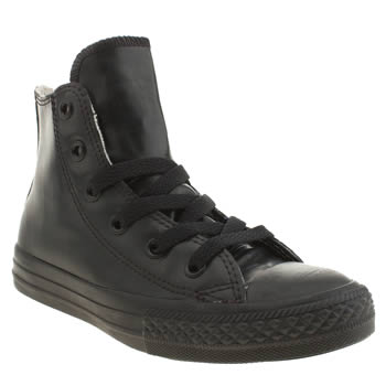 Unisex Converse Black All Star Rubber Hi Unisex Junior