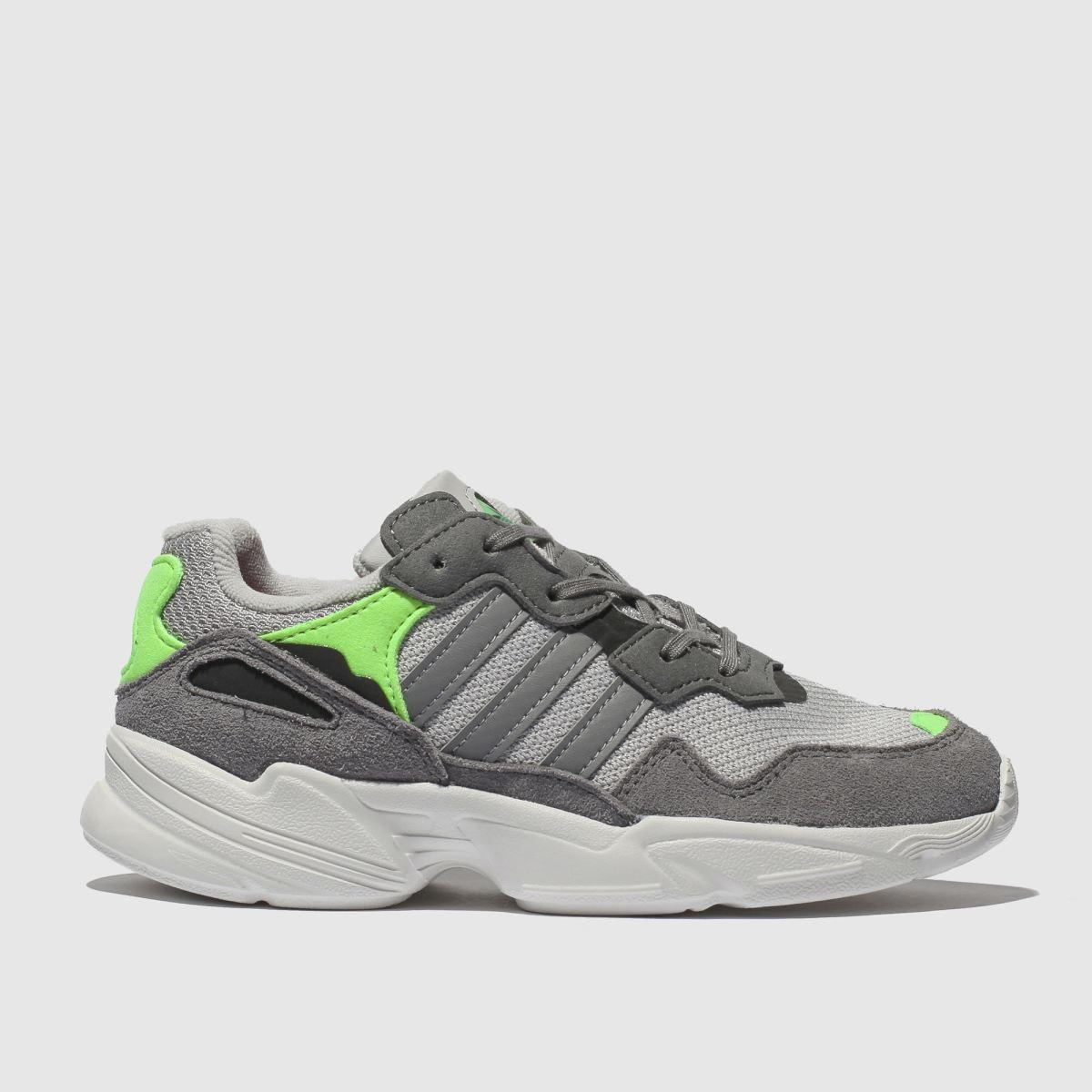 Adidas Grey Yung 96 Trainers Junior