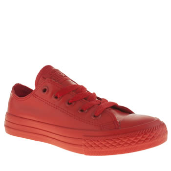 Unisex Converse Red All Star Rubber Ox Unisex Junior