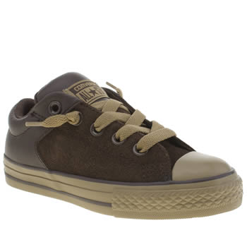 Unisex Converse Dark Brown All Star High Street Unisex Junior