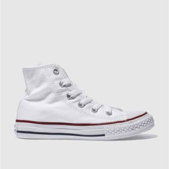 Unisex Converse White All Star Hi Unisex Junior
