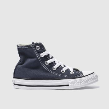 Unisex Converse Navy All Star Hi Unisex Junior