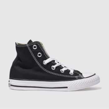 Unisex Converse Black All Star Hi Unisex Junior