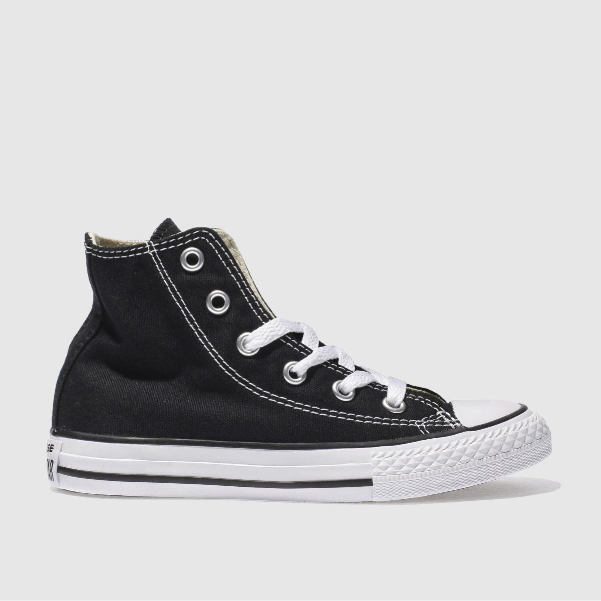converse black all star hi Boys Junior Trainers
