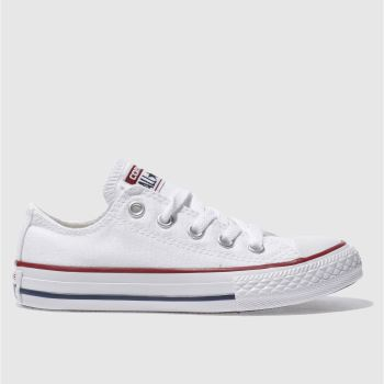 Unisex Converse White All Star Lo Unisex Junior