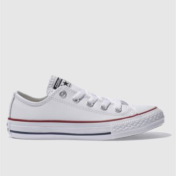 Converse White & Red All Star Oxford Unisex Junior